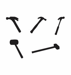 hammers silhouettes vector image