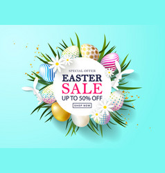 happy easter sale bannerbeautiful background vector image