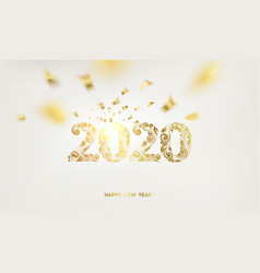 happy new year card over white background vector image