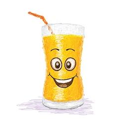 Happy orange juice vector
