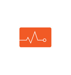 Heartbeat flat icon medical and pulse sign vector