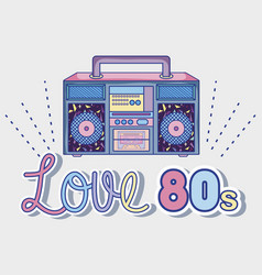 i love 80s cartoons vector image