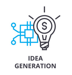 idea generation thin line icon sign symbol vector image