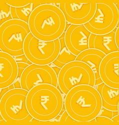 Indian rupee coins seamless pattern vector