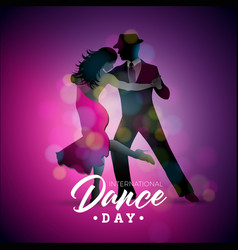 international dance day with vector image
