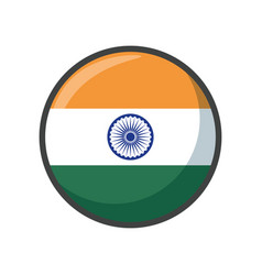 isolated india flag icon block design vector image