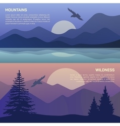 landscape in north areas vector image