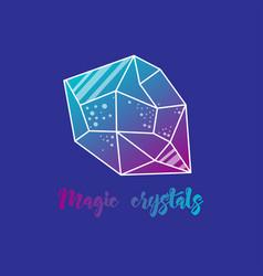 Magic crystals of pyramidal shape vector