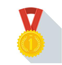 medal color icon vector image