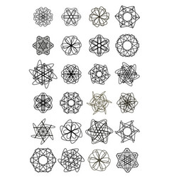 mega set of doodle design star shapes elegant vector image