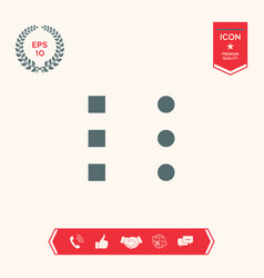 Menu icon for mobile apps and websites vector