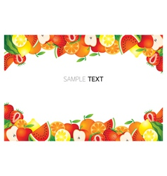 Mixed Fruits Frame Border vector image