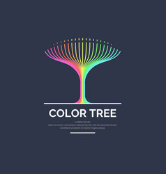 modern bright colored linear logo tree vector image