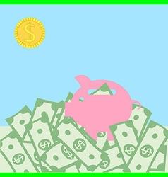 money landscape concept vector image