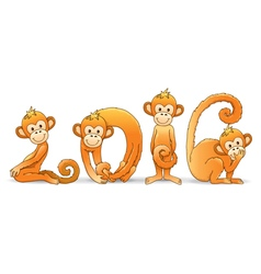 Monkey year 2016 vector