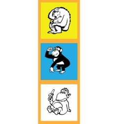 monkeys set vector image