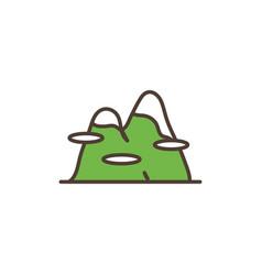 mountains peak landscape line filled vector image