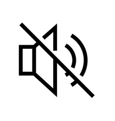 mute and no sound outline icon vector image
