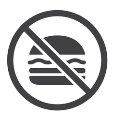 no fastfood glyph icon fitness and sport vector image