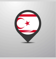 northern cyprus map pin vector image