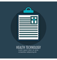 Order medical clipboard isolated icon vector