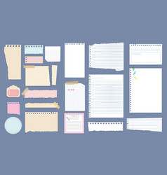 Paper notes copybook linear pages lists vector