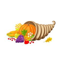 pumpkin veggie autumn set of food and meal vector image