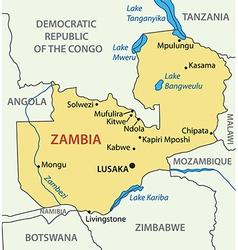 Republic of Zambia - map vector image