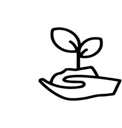 Seedling icon on white background vector