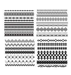 Set of borders and lines Design geometric elements vector
