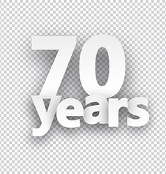 Seventy years paper sign vector image vector image