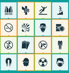 Sign icons set includes icons such as uniform vector