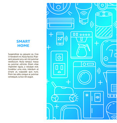 smart home banner template in line style vector image