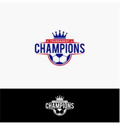 Soccer champion logo vector