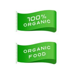 tags vegan food organic product labels vector image