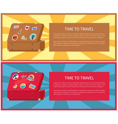 time to travel posters set vector image