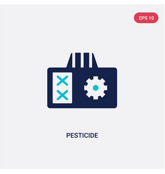 Two color pesticide icon from agriculture farming vector