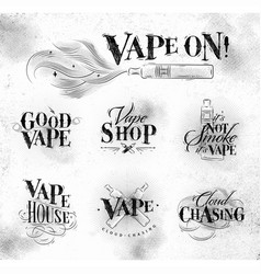 Vape symbols vector