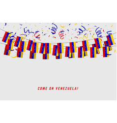 venezuela garland flag with confetti vector image
