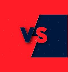 Versus screen vs abstract background logo vector