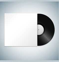 Vinyl record cover mockup vector