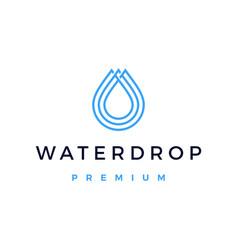 Water drop logo icon vector