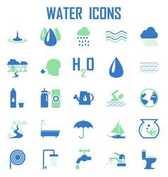 water icons mono symbol vector image