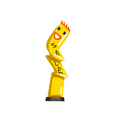 Yellow inflatable tube man for sales and vector