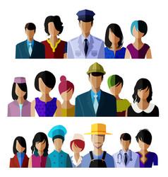 flat design avatar vector image