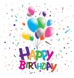 Happy birthday on a party background Happy vector image vector image