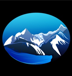 Mountains and peaks vector image vector image