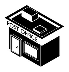 post office icon simple style vector image vector image