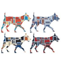 Trotting dog mosaics vector image vector image