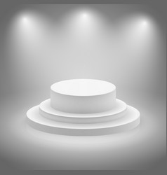 White empty illuminated stage vector image